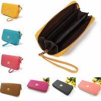 Fashion Clutch Zipper Leather Long Handbag Lady's Wallet Coin Womens Purse