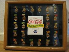Coca-Cola World Cup Pins 1994 Complete Set of 24 framed Kroger