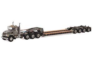 WSI 33-2012 Mack Granite 8x4 w/4-Axle Flip Rogers Lowboy Grey Die-cast 1/50 Mint