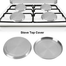 4PCS Stainless Steel Kitchen Stove Top Covers Burner Round Cooker Protection
