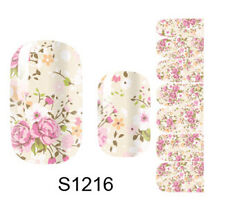 NAIL WRAPS STICKERS  Full Self Adhesive Polish Foils Decoration Art Decals S1216