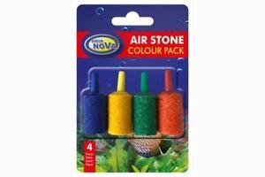 Luftsteine 4 farbig / Aqua Nova AS-1 Colour Pack / Sprudelsteine / Sauerstoff