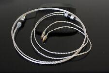 Mmcx Iem cable silver Litz for SHURE SE846 SE535 SE215 UE900 - Eidolic trs