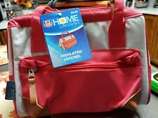 NWT rite aid home design LiFOAm Insulated Satchel Red Gray brown bag