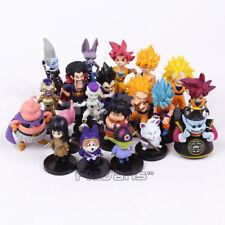 20 Pcs/Set Dragon Ball Z Son Goku Vetega Majin Buu Freeza Beerus PVC Figure Toys