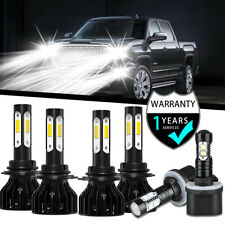 For GMC Sierra 1500 2500 99-2002 9005 9006 880 LED Headlight Fog Light Bulbs Kit