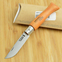 Opinel No 5 French Made Beechwood Handle Carbon Steel Folding Knife 11050