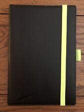 Nike Black Leather Golf Scorecard Yardage Holder Book Lighting Yellow Elastic