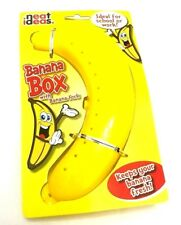 PLASTIC BANANA CONTAINER CASE HOLDER BOX FOOD KIDS LUNCH FRUIT STORAGE
