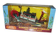 PENN PLAX Sunken Stearn-Wheeler Action Underwater Ornament O-30