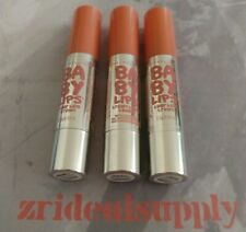 Maybelline Baby Lips Color Balm Crayon 10 Blush Burst New Damaged Top 3Pack