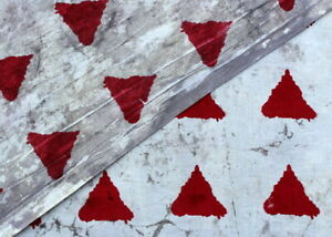 Hand Block Triangle Print 100% Pure Cotton Red natural color Running 2.5 fabric