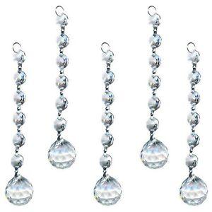 5X Crystals Glass Chandelier Light Ball Prism Hanging Suncatcher Drops Gift 20mm