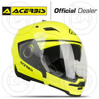 CASCO CROSSOVER ACERBIS STRATOS GIALLO INTEGRALE JET APRIBILE MOTO SCOOTER URBAN
