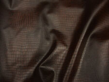 Vinyl Faux Alligator Brown  color upholstery Leather Vinyl fabric per yard