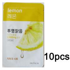 Korea Cosmetics 10pcs [ARITAUM] Lemon Fresh Power Essence Mask Sheet 20ml Moist
