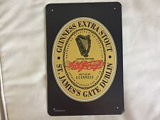 COOL BREWERIANA: Classic Guinness Logo Metal Beer Sign NEW 8 x 11-3/4