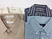 Lot of 4 Men's Shirts 171/2  34/35  Long Sleeves Pierre Cardin John Henry  MC147