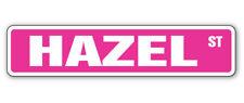 HAZEL Street Sign Childrens Name Room Decal| Indoor/Outdoor