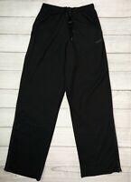 Reebok Play Dry Mens Size Small Black Athletic Pants Zip Ankle, Elastic Waist