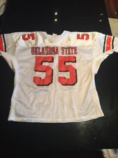Game Worn Used Oklahoma State Cowboys Football Jersey #55 Sports Belle 3Xl<