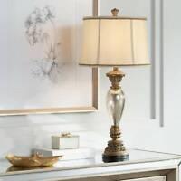 Traditional Table Lamp Mercury Glass Golden Bronze Base for Living Room Bedroom