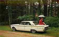 1962 FORD FAIRLANE 500  AUTOMOBILE ADV CHROME POSTCARD
