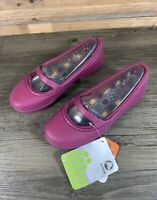 Crocs Crocband Winter Flat Plum Purple Mary Jane Ladies Shoes Size W5 UK 3 NEW