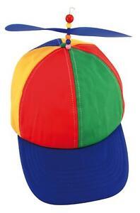 Novelty Helicopter Propeller Cap Hat    Rainbow Fancy Dress, Nerd, Party Gift