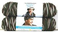 2 Count Caron 4 Oz Simply Soft Camo 11482 Mash Camo Polyester 4 Medium Yarn