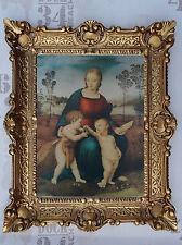 Gemälde Jesus Maria Ikonen Heiligenbild mit Rahmen 56x46 cm Religiöse Bilder 33