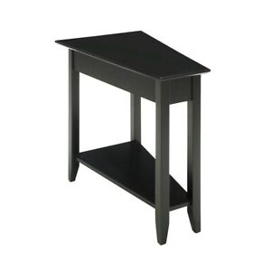 Convenience Concepts American Heritage Wedge End Table, Black - 7105060-BL