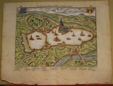 ANGOULÊME FRANCE 1575 BELLEFOREST UNUSUAL ANTIQUE WOODCUT MAP FRENCH EDITION