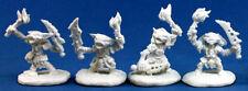 4 x GOBELIN PYROS - BONES REAPER figurine miniature rpg pathfinder goblin 89002