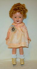 "Antique ~ All Original ~ 13"" Shirley Temple Doll , by Ideal Toy Co, circa 1930's"