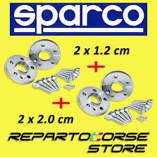 ELARGISSEUR DE VOIES SPARCO 2x12mm + 2x20mm - FIAT 500 ABARTH