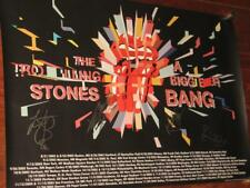 """THE ROLLING STONES - HAND SIGNED OFFICIAL - """"A BIGGER BANG"""" 2005 TOUR POSTER"""