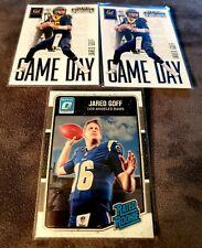 Jared Goff 2016 Panini Donruss Optic SP Rated Rookie RC & Contenders RC LOT Rams
