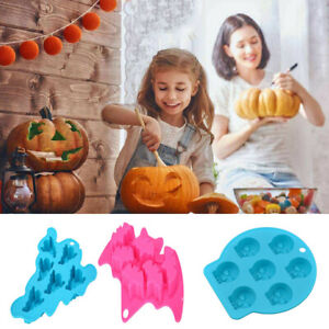 Halloween Xmas Silicone Ice Cube Cake Mould Mold Decor Chocolate Cookie Baking