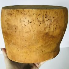 """Superb Wood Wooden Hat Block Head Style Form Display  Mold Millinery 22"""" inches"""