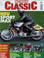 Motorrad Classic 1/01 2001 Laverda 75 100 Bat 1000 Bison 500 BMW R 51/2 Renner