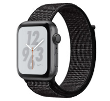 Apple Watch Nike+ Series 4 44mm Grau Aluminium Gehäuse Gewebtes Nylon Band (MU7J2FD/A)