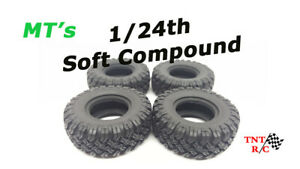 All 4pcs 1/24th scale r/c rock crawler MT tires only With Free Shipping!