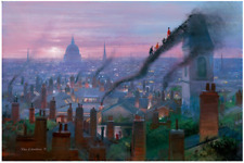 Disney Fine Art Limited Edition Canvas Smoke Staircase-Mary Poppins