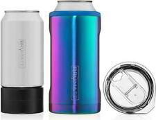 Hopsulator Trio 3-in-1 Stainless Steel Insulated Can Cooler, Rainbow Titanium