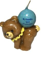 Vintage Circus Honey Bear Birthday Candle Friends Are Forevet