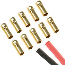 10 x RC 3.5 mm gold bullet connecteur femelle + voiture thermique shrink Moteur ESC