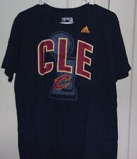 Adidas Mens Large 100% Cotton Cleveland Cavaliers Black Graphic T Shirt