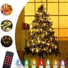 Kabellose 30er LED Weihnachtskerzen Weihnachtsbaumbeleuchtung Lichterkette