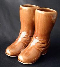 Vintage Pottery Boots Glazed Stoneware Pottery Planter